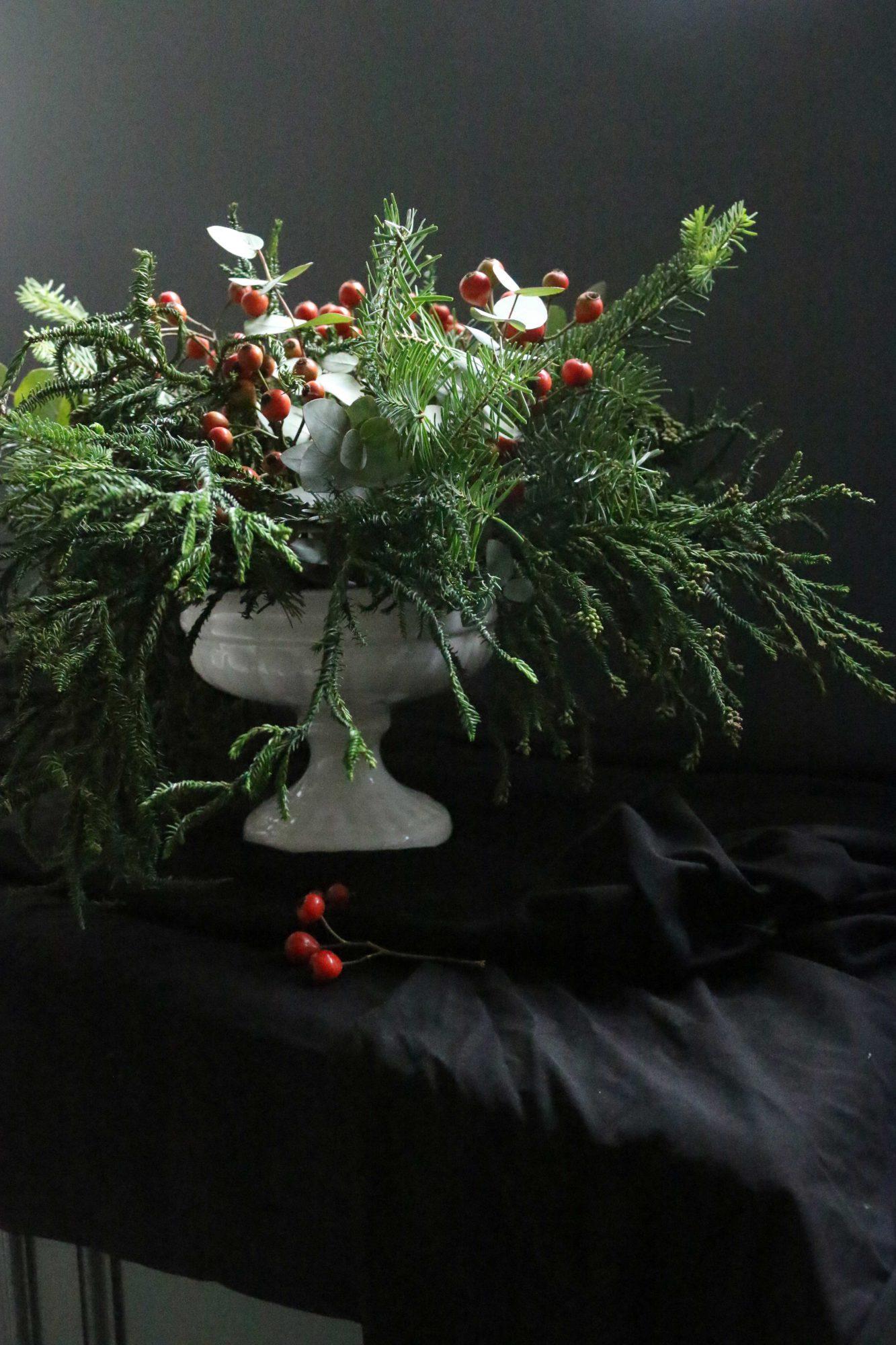 kerst bloemstuk christmas